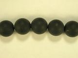 Бусина из оникса черного матового, шар гладкий 10мм