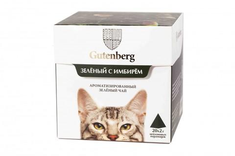 Чай в пирамидках: кошки Зеленый с имбирем ЧАЙ ИП Кавацкая М.А. 20шт/уп
