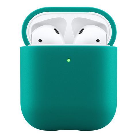 Чехол AIRPODS Silicone Case Green