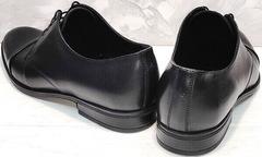 Повседневные туфли мужские кожа Ikoc 2249-1 Black Leather.