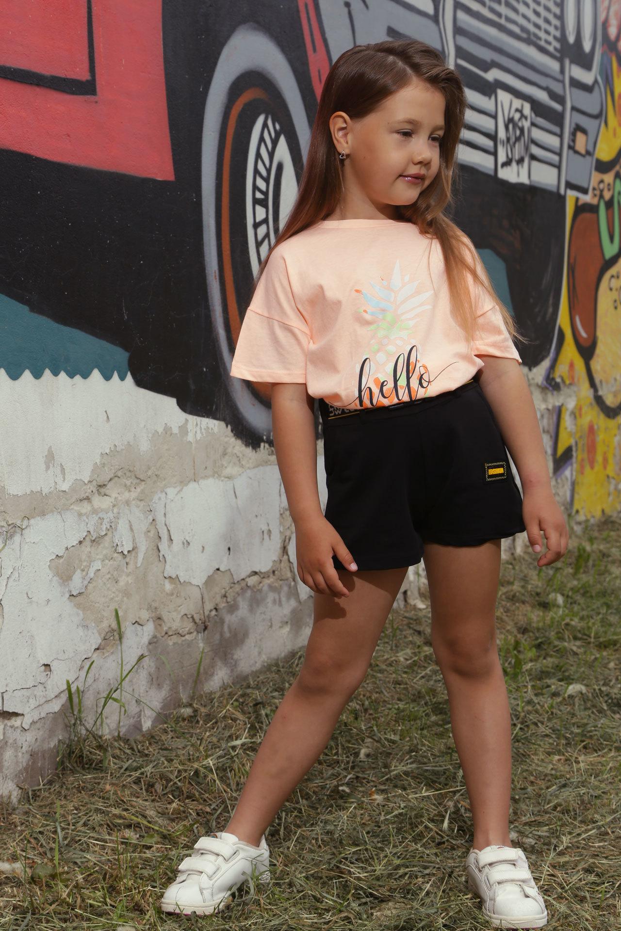 Футболка для девочки ананас Divonette Турция, 3061 (134-152)