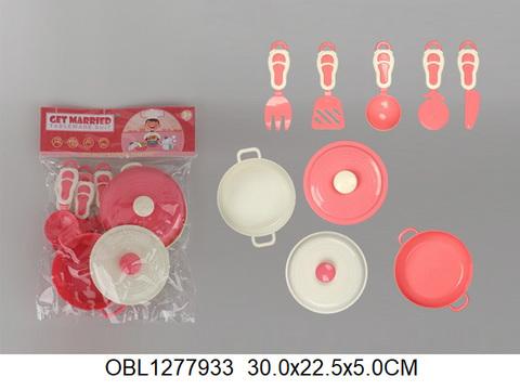 Набор посуды, 9 пр.(в пакете), HS405B