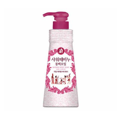Mukunghwa Shower Scrub Soap Camellia Seed Oil гель-эксфолиант с маслом камелии и AHA-кислотой