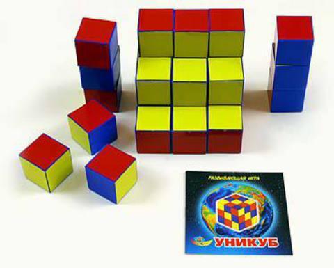 Кубики Уникум в удобной сумке - 460 руб