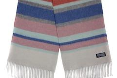 Шерстяной шарф цветной полосатый 30311