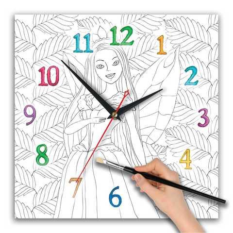 часы раскраска для девочек