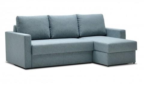 Угловой диван-еврокнижка Мекс 150, комплектация 3, серо-бирюзовый