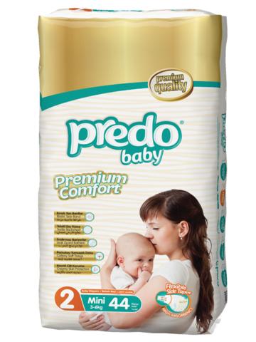 Predo. Подгузники Baby Двойная пачка № 2 (3-6 кг Mini), 44 шт.