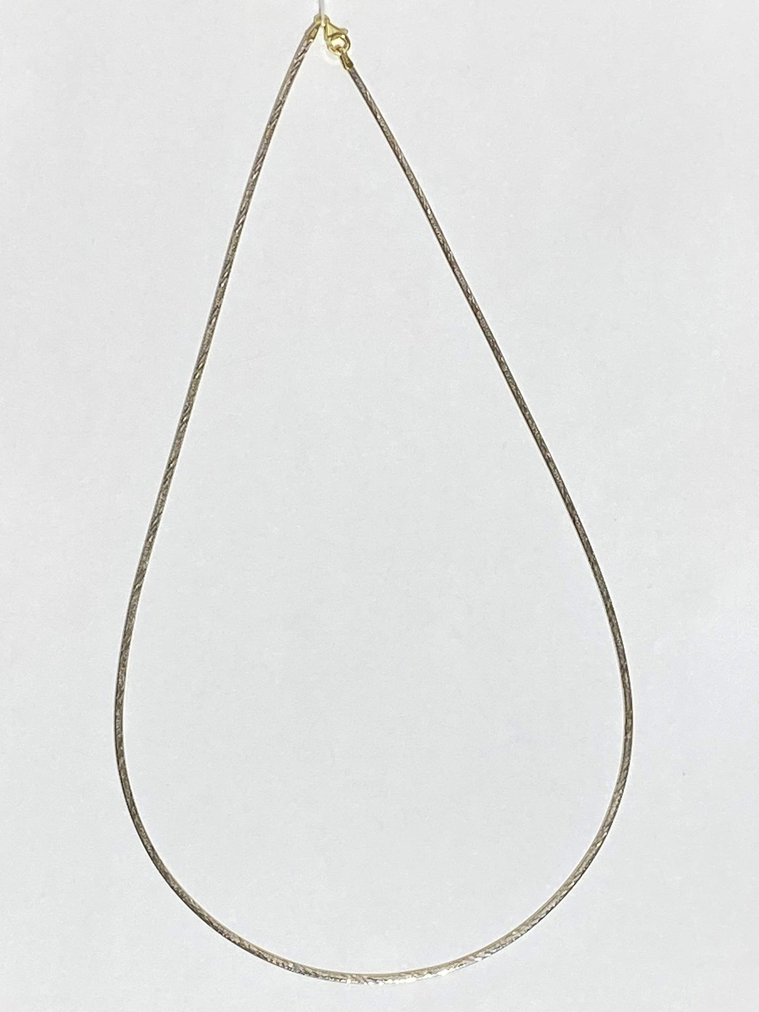 Колье 0,2 см. (серебряное колье).