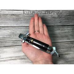 Нож выкидной Флинт, порошковая сталь Elmax, эбонит