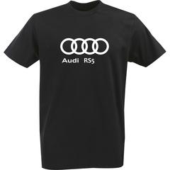 Футболка с однотонным принтом Ауди (Audi RS5) черная 0038