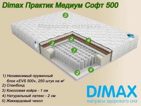 Матрас Димакс Практик Медиум Софт 500 на Мегаполис-матрас