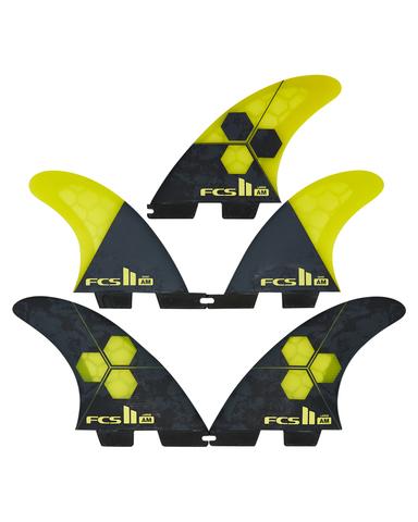FCS II AM PC Tri-Quad Retail Fins Yellow Large