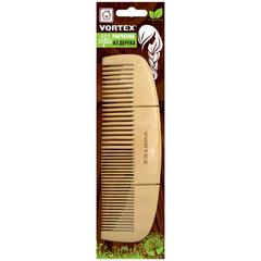 Расческа деревянная, гребень, 16х5 см, с деревянными зубчиками