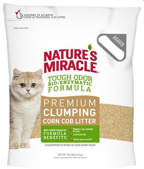 Наполнители Наполнитель кукурузный NM Premium Natural Care для кошачьего туалета комкующийся 4,5 кг 1.png