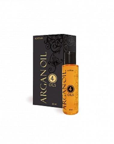 Восстанавливающий защитный концентрат для волос «4 масла» ARGAN OIL, 60 мл., Kativa