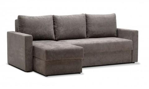 Угловой диван-еврокнижка Мекс 150, комплектация 3, серый