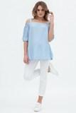 Блузка для беременных 09578 светло-голубой
