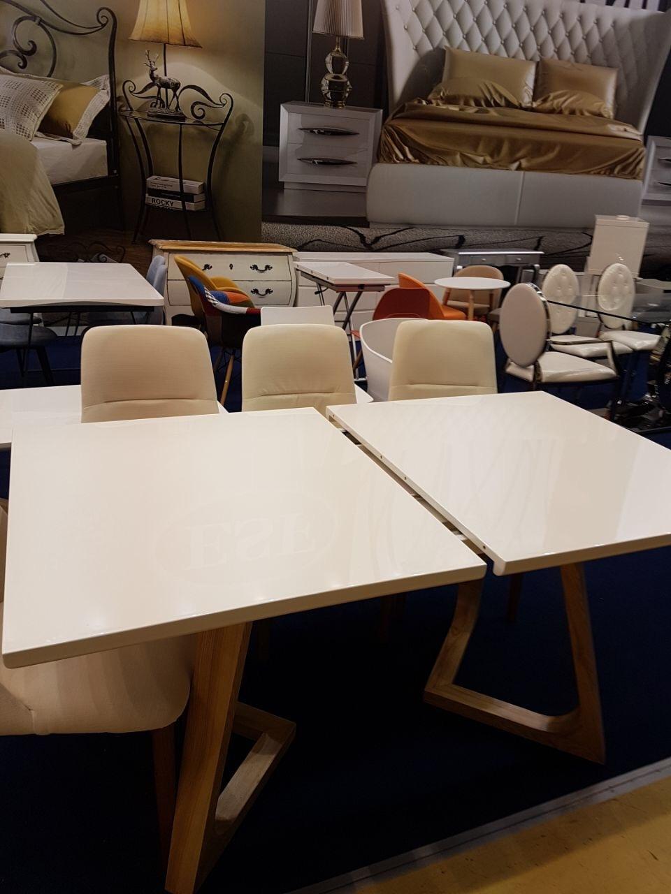 Стол ESF T1692 Белый и стулья ESF Y1685 белые