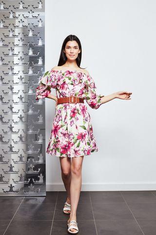 Liu Jo Платье хлопковое с вырезом