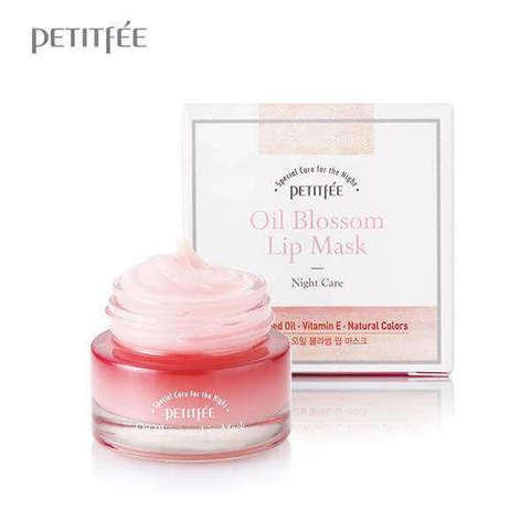 Ночная маска для губ с маслом камелии и витамином Е Petitfee Oil Blossom Lip Mask