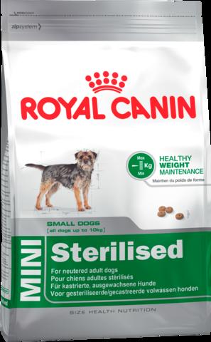 Для взрослых стерилизованных собак мелких размеров