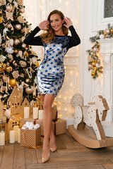 Платье со звездами 3396