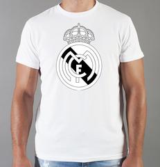 Футболка с принтом FC Real Madrid (ФК Реал Мадрид) белая 004