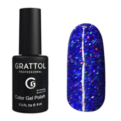 Гель-лак Grattol, Color Gel Polish LS Diamond 03, синий диамант, 9 мл
