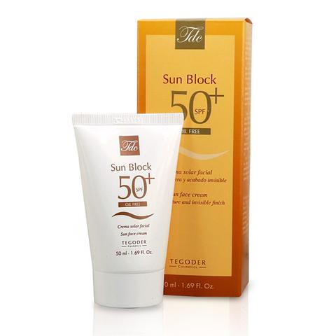 TEGOR Крем солнцезащитный для жирной кожи SPF 50+ Sun Block oil free