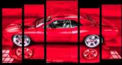"""Модульная картина """" Красное авто """""""