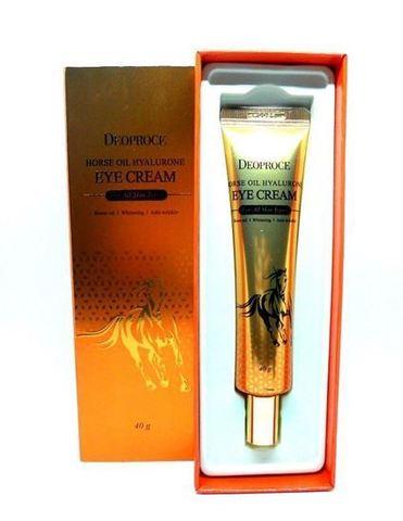 Deoproce Horse Oil Hyalurone Eye Cream крем для глаз с гиалуроновой кислотой и лошадиным жиром