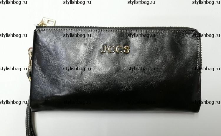 Женский кошелек на двух молниях JCCS js-3534 black