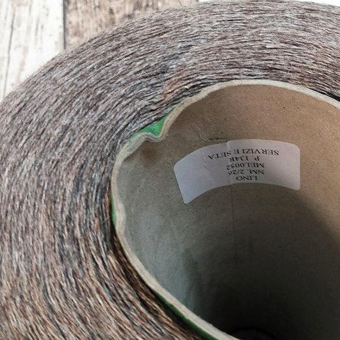 Лен 100% SERVIZI E SETA / LINO 2/26 серо-коричневый меланж