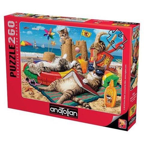 Puzzle Kedilerin Plaj Keyfi. Cats on the Beach 260 pcs
