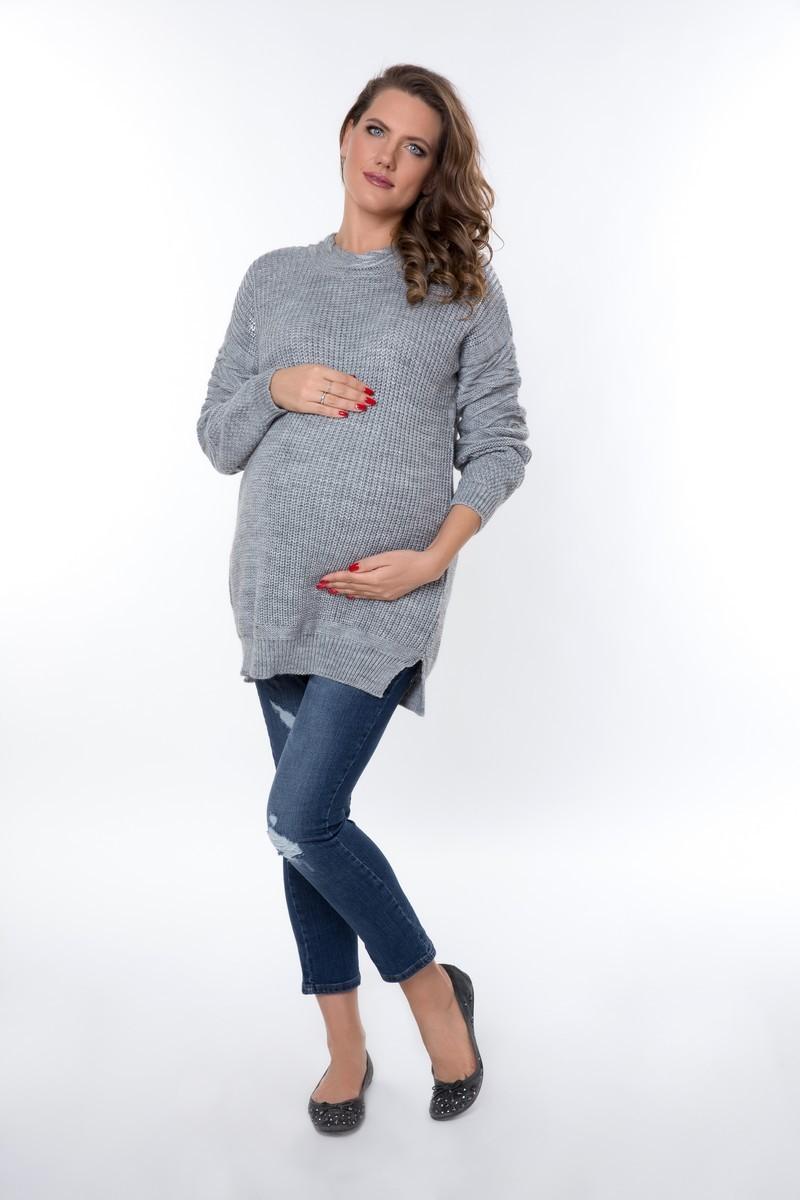 Свитер для беременных 00008 серый