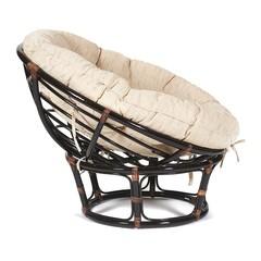 Кресло из натурального ротанга «Папасан» (Papasan 23/01) без подушки (Antique brown (античный чёрно-коричневый)