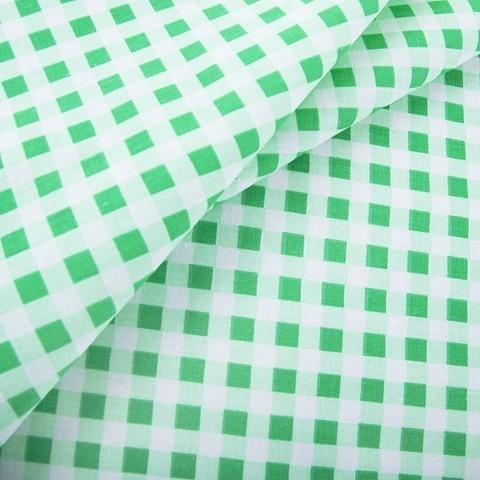 Бязь плательная 150 см Клетка 1/1см 1551/2 цвет зеленый