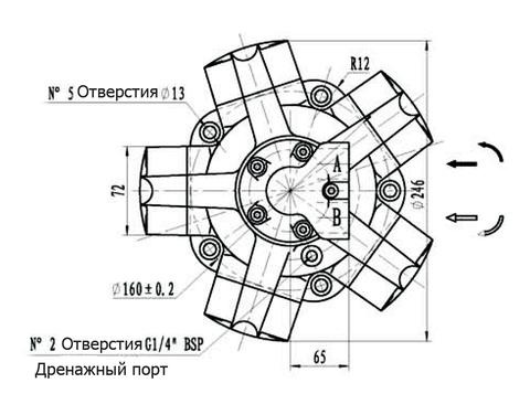 Гидромотор IPM1-160