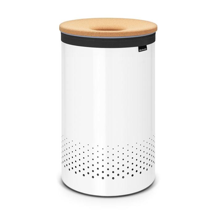 Бак для белья с пробковой крышкой (60 л), Белый, арт. 104404 - фото 1