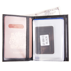 Обложка д/паспорта и авто 0094-C1 black GF