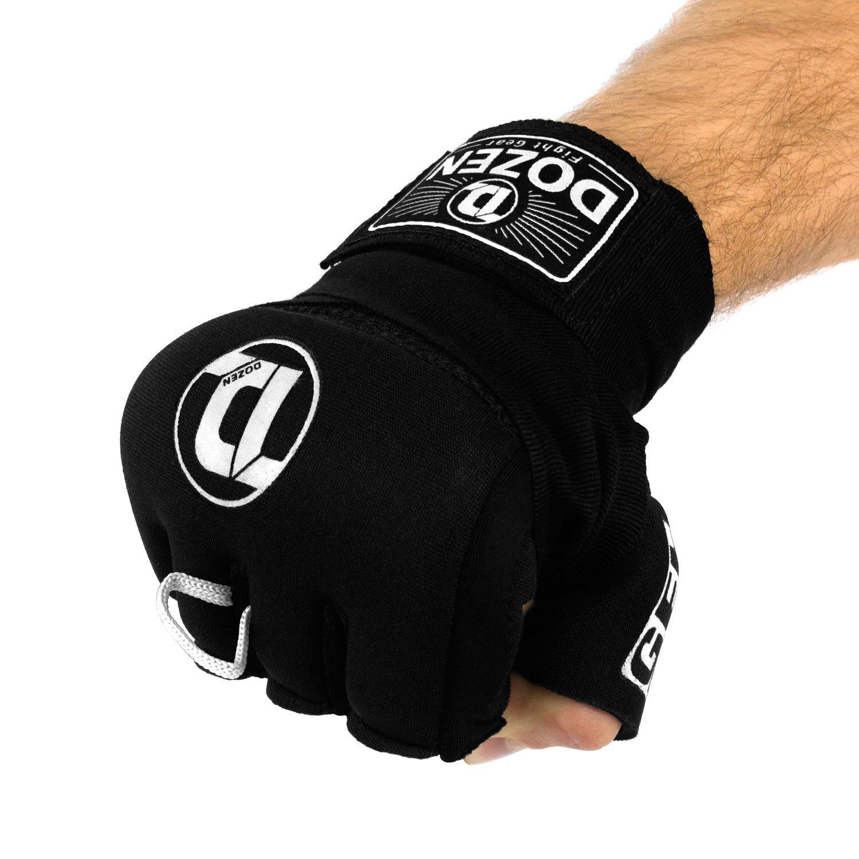 Быстрые бинты черно-белые Dozen Pro Gel-Air Inner сжатый кулак