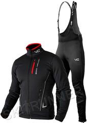 Утеплённый лыжный костюм 905 Victory Code Speed Up Black  2021 с высокой спинкой мужской