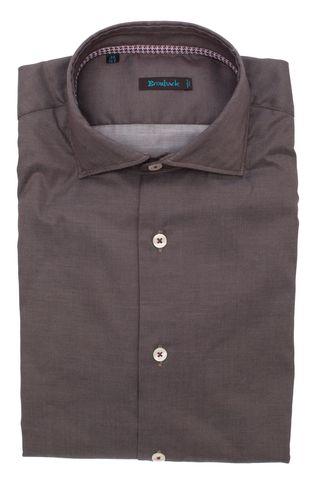 Тёмно-серая рубашка в мелкий рубчик