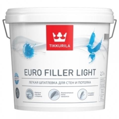 Tikkurila Euro Filler Light / Тиккурила Евро Филлер Лайт легкая шпатлевка для стен и потолков