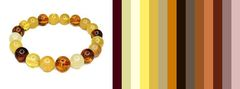 варианты цветов для одежды под браслет из разноцветного янтаря
