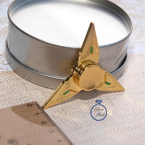 Спиннер из латуни сюрикен-звездочка трехконечная 17002L