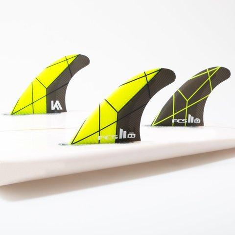 FCS II KA PC Tri Retail Fins Grey/Yellow Medium