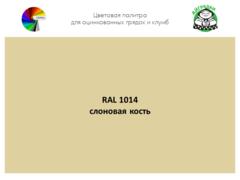 Цвет полимерного покрытия RAL 1014 слоновая кость | АЙГРЯДКИ!