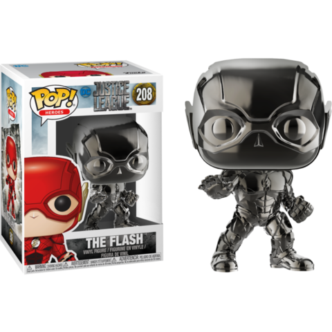 Фигурка Funko Pop! Movies: DC - Justice League - The Flash (Black Chrome) (Excl. to Fugitive Toys)
